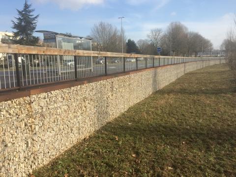 caen gabions stonebox SETP retaining walls 2013